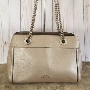 Coach Leather Brooke Chain Carryall Purse - #F3901